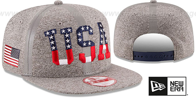 United States 'PRIDE FLECT SNAPBACK' Grey Hat by New Era : pictured without stickers that these products are shipped with