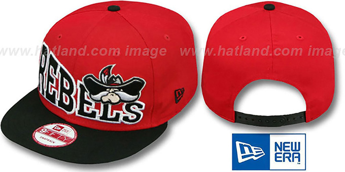 UNLV 'STOKED SNAPBACK' Red-Black Hat by New Era : pictured without stickers that these products are shipped with