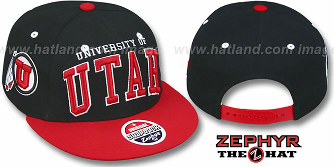 25c5e3c11090d Utah  2T SUPER-ARCH SNAPBACK  Adjustable Hat by Zephyr