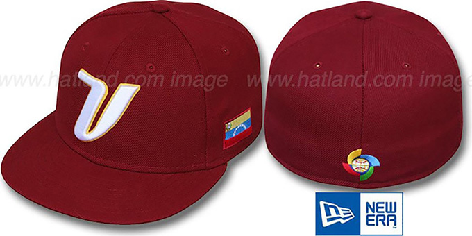 Venezuela 'PERFORMANCE WBC' GAME Hat by New Era : pictured without stickers that these products are shipped with