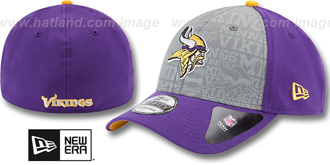 Vikings '2014 NFL DRAFT FLEX' Purple Hat by New Era : pictured without stickers that these products are shipped with