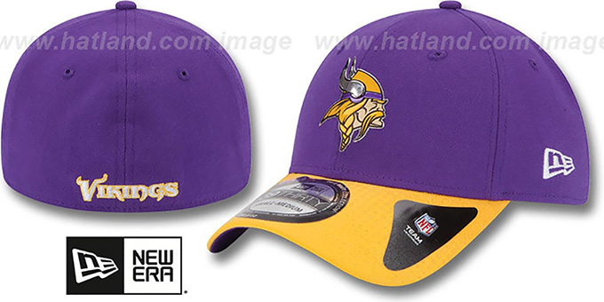 Vikings '2015 NFL DRAFT FLEX'  Hat by New Era : pictured without stickers that these products are shipped with