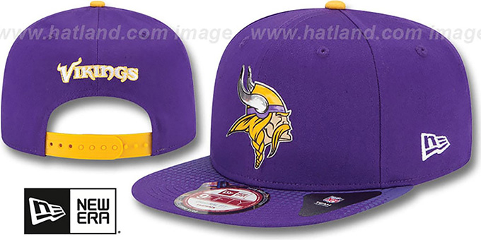 Vikings '2015 NFL DRAFT SNAPBACK' Purple Hat by New Era : pictured without stickers that these products are shipped with