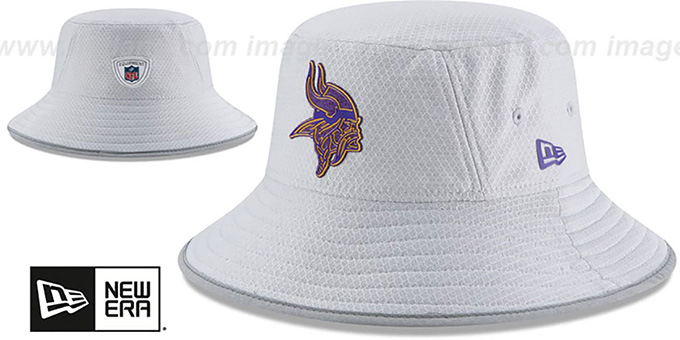 Vikings '2018 NFL TRAINING BUCKET' Grey Hat by New Era