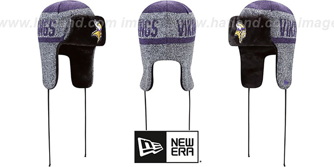 Minnesota Vikings FROSTWORK TRAPPER Purple Knit Hat deca9eda5ca