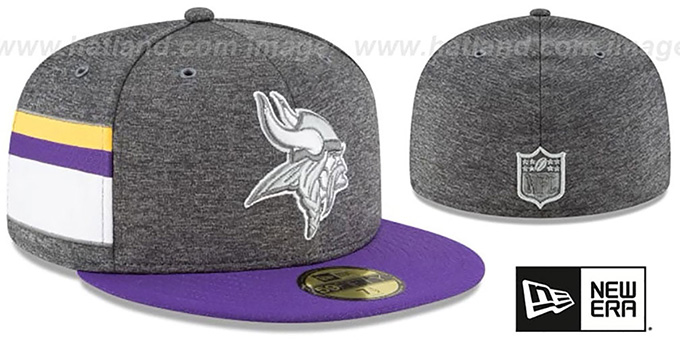 768a1e9f2 Minnesota Vikings HOME ONFIELD STADIUM Charcoal-Purple Fitted Hat by New Era