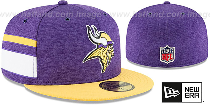 Vikings 'HOME ONFIELD STADIUM' Purple-Gold Fitted Hat by New Era