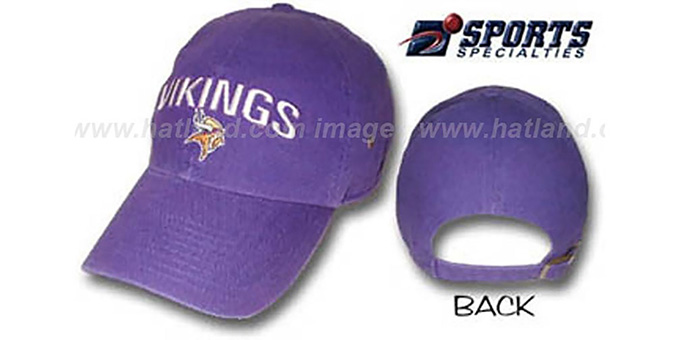 Vikings 'LEGEND' Hat by Sports Specialties : pictured without stickers that these products are shipped with