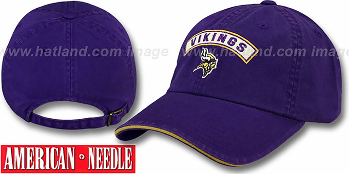 Vikings 'MIKEY' Purple Hat by American Needle : pictured without stickers that these products are shipped with