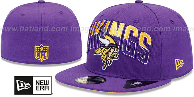 Vikings 'NFL 2013 DRAFT' Purple 59FIFTY Fitted Hat by New Era : pictured without stickers that these products are shipped with