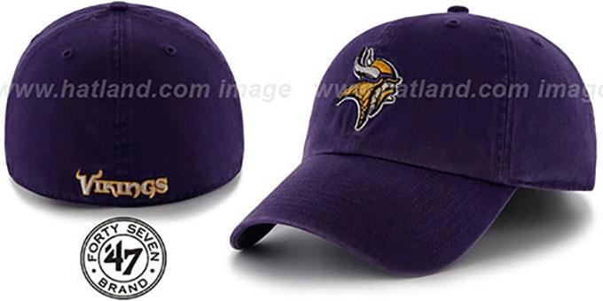 a002ab1e Minnesota Vikings NFL FRANCHISE Purple Hat by 47 Brand