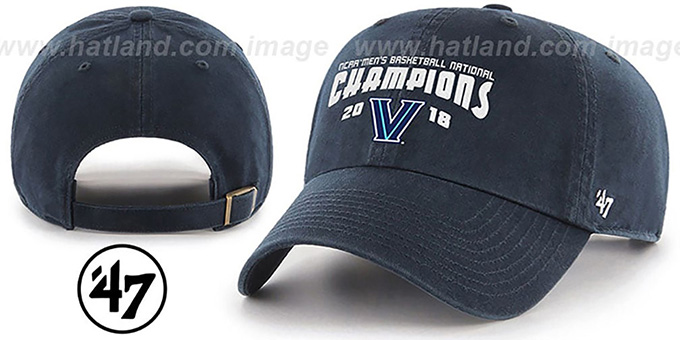 Villanova '2018 NATIONAL CHAMPIONS STRAPBACK' Hat by Twins 47 Brand