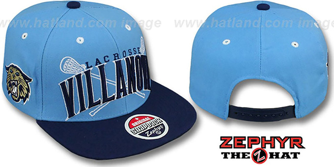 43bc8bee14d ... coupon code for villanova lacrosse super arch snapback sky navy hat by  zephyr 6bd8b bd819