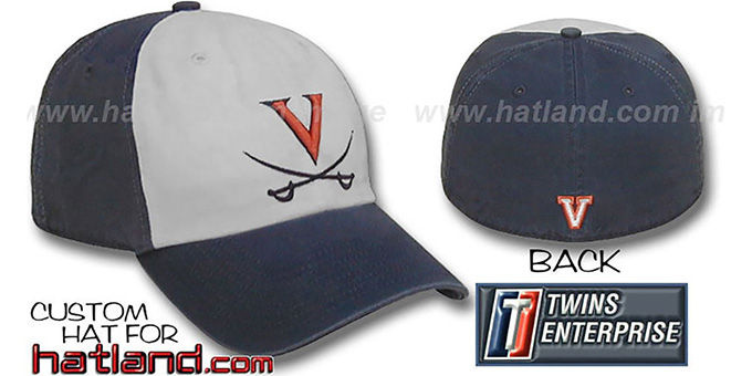 Virginia RETRO 'FRANCHISE' Hat by Twins : pictured without stickers that these products are shipped with
