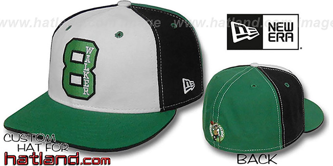 Walker 'PINWHEEL' White-Black-Green Fitted Hat by New Era : pictured without stickers that these products are shipped with