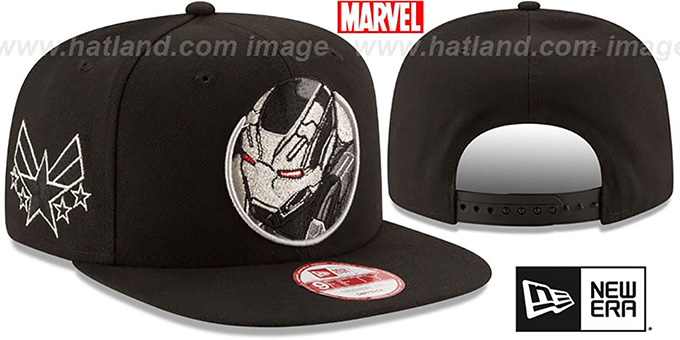 War Machine 'RETROFLECT SNAPBACK' Black Hat by New Era : pictured without stickers that these products are shipped with