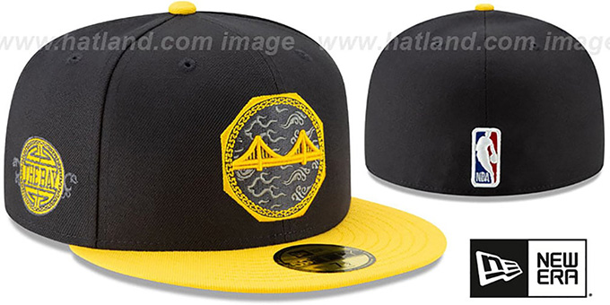 ccc75c835 Golden State Warriors 18-19 CITY-SERIES Navy-Gold Fitted Hat