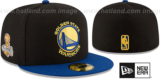 Warriors '2017 FINALS CHAMPIONS' Black-Royal Fitted Hat by New Era