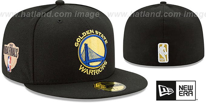 592b9c1ee49 Golden State Warriors 2018 FINALS Black Fitted Hat by New Era. Warriors  2018  FINALS  Black Fitted Hat by ...