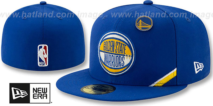 Warriors '2019 NBA DRAFT' Royal Fitted Hat by New Era
