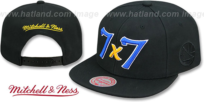 Warriors 'CITY NICKNAME SCRIPT SNAPBACK' Black Hat by Mitchell and Ness