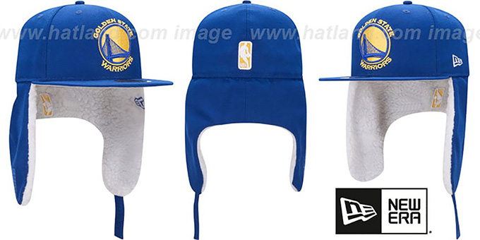 d4ea401cdde35 Golden State Warriors FLURRY-FIT DOGEAR Royal Fitted Hat