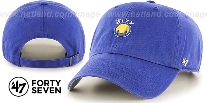 Warriors HWC 'POLO STRAPBACK' Royal Hat by Twins 47 Brand : pictured without stickers that these products are shipped with