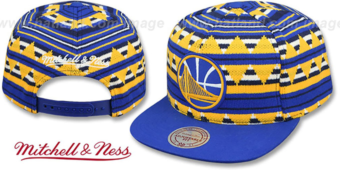 Warriors 'MIXTECH SNAPBACK' Hat by Mitchell and Ness : pictured without stickers that these products are shipped with
