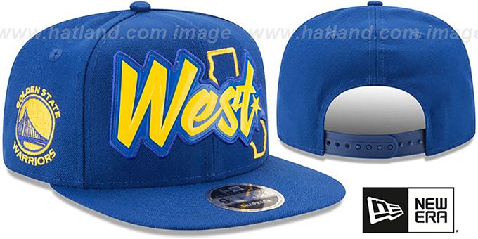 Warriors 'NBA ALL-STAR CONFERENCE BEVEL SNAPBACK' Hat by New Era : pictured without stickers that these products are shipped with