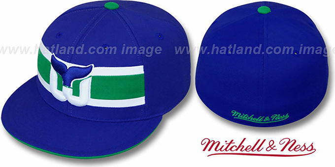 Whalers 'VINTAGE SLAPSHOT' Fitted Hat by Mitchell & Ness : pictured without stickers that these products are shipped with