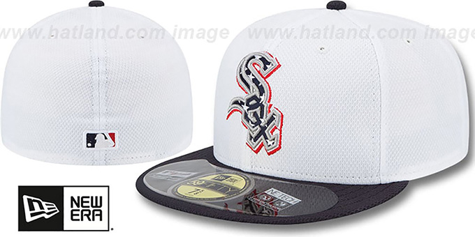 White Sox 2013 'JULY 4TH STARS N STRIPES' Hat by New Era : pictured without stickers that these products are shipped with