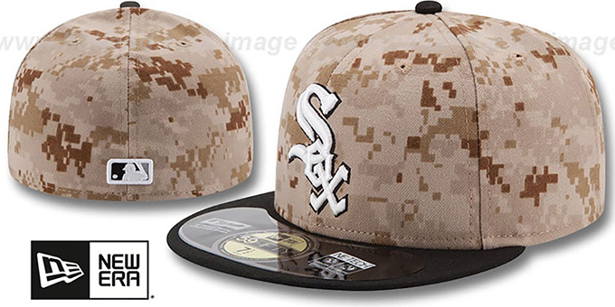 White Sox '2014 STARS N STRIPES' Fitted Hat by New Era : pictured without stickers that these products are shipped with