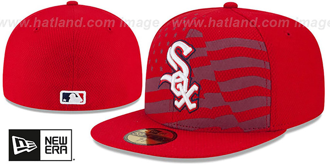 White Sox '2015 JULY 4TH STARS N STRIPES' Hat by New Era : pictured without stickers that these products are shipped with