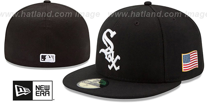 White Sox '2015 STARS-N-STRIPES 911 GAME' Hat by New Era : pictured without stickers that these products are shipped with