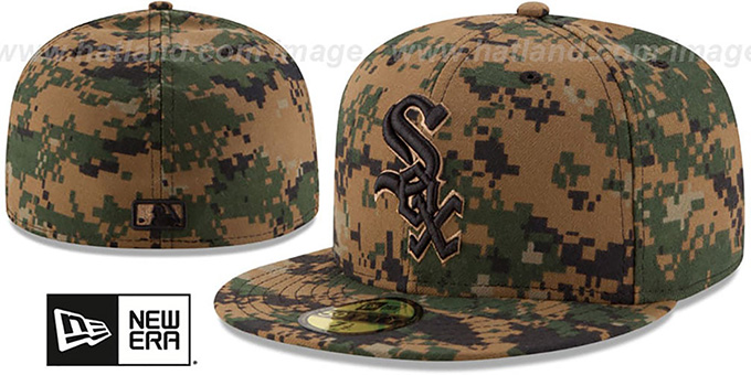 White Sox 2016 MEMORIAL DAY 'STARS N STRIPES' Hat by New Era : pictured without stickers that these products are shipped with