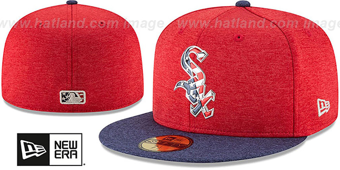 a4bc22704cb7e5 White Sox '2017 JULY 4TH STARS N STRIPES' Fitted Hat by New Era