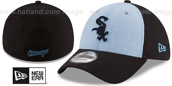 b165382509d16 White Sox  2018 FATHERS DAY FLEX  Sky-Black Hat by New Era