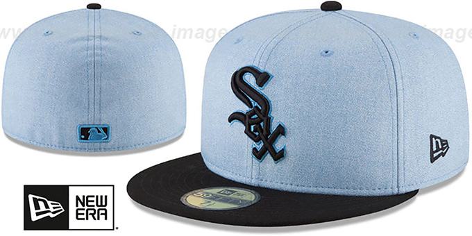 White Sox '2018 FATHERS DAY' Sky-Black Fitted Hat by New Era