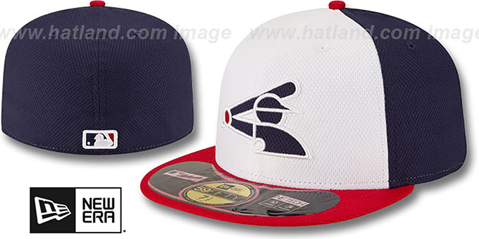 White Sox 'ALTERNATE DIAMOND-TECH BP' Hat by New Era : pictured without stickers that these products are shipped with