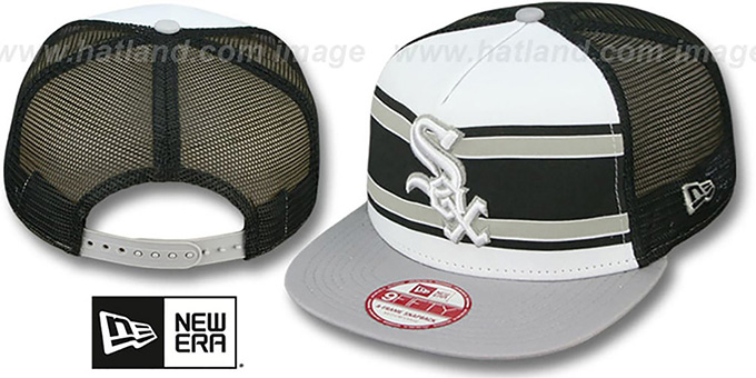 White Sox 'BAND-SLAP SNAPBACK' Hat by New Era : pictured without stickers that these products are shipped with