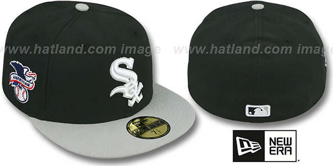 White Sox 'BAYCIK' Black-Grey Fitted Hat by New Era : pictured without stickers that these products are shipped with