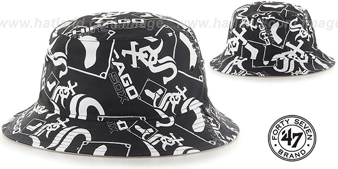 White Sox 'BRAVADO BUCKET' Hat by Twins 47 Brand : pictured without stickers that these products are shipped with