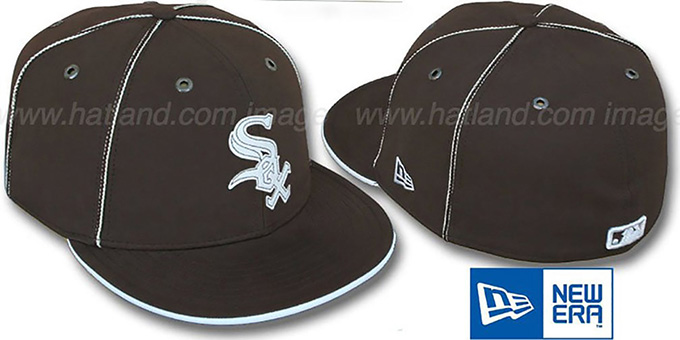 White Sox 'CHOCOLATE DaBu' Fitted Hat by New Era : pictured without stickers that these products are shipped with