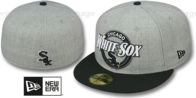 White Sox 'CIRCLE-CLOSER' Grey-Black Fitted Hat by New Era : pictured without stickers that these products are shipped with