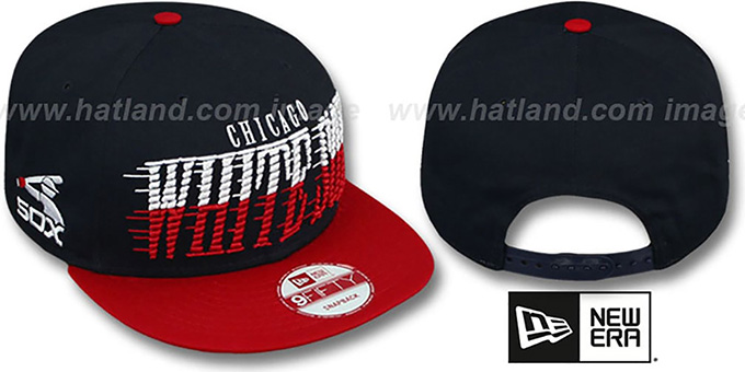 White Sox COOP 'SAILTIP SNAPBACK' Navy-Red Hat by New Era : pictured without stickers that these products are shipped with