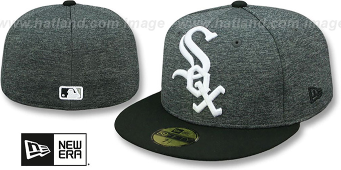 79a4a3fd27e White Sox  HEATHER-HUGE  Grey-Black Fitted Hat by New Era