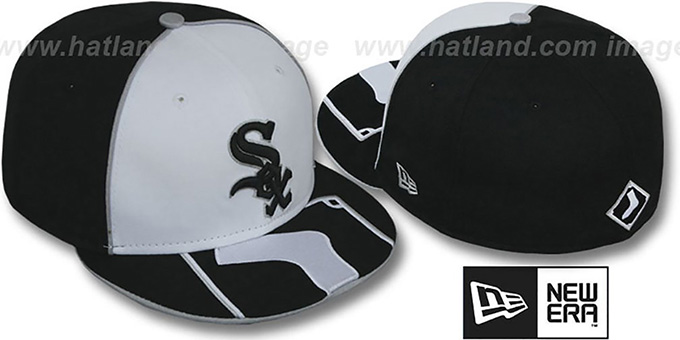 White Sox 'HFVL BIGBOY' White-Black Fitted Hat by New Era : pictured without stickers that these products are shipped with