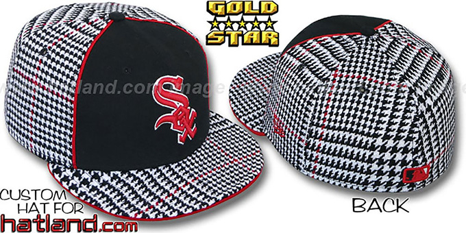 White Sox 'HOUND DOG' Fitted Hat by New Era : pictured without stickers that these products are shipped with