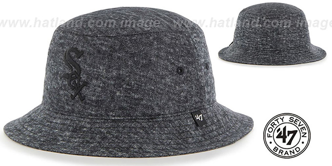 White Sox 'LEDGEBROOK BUCKET' Black Hat by Twins 47 Brand : pictured without stickers that these products are shipped with