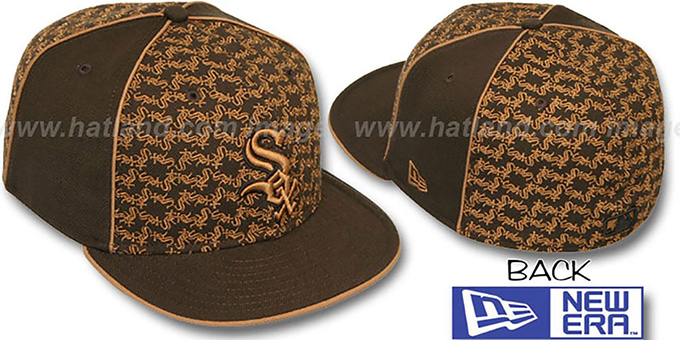 White Sox 'LOS-LOGOS' Brown-Wheat Fitted Hat by New Era : pictured without stickers that these products are shipped with